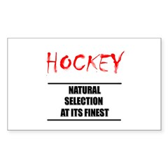 Natural Selection Hockey Rectangle Decal