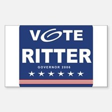 Vote Bill Ritter Rectangle Decal