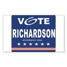 Vote Bill Richardson Rectangle Decal