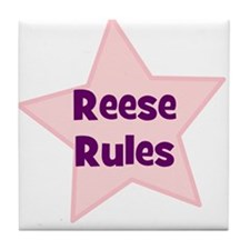 Reese Rules Tile Coaster