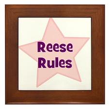 Reese Rules Framed Tile