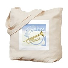 Jazz Trumpet Design Tote Bag