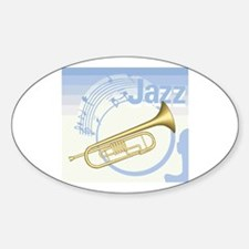 Jazz Trumpet Design Oval Decal