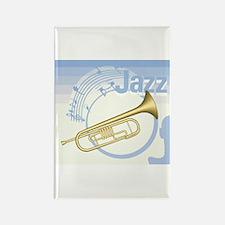 Jazz Trumpet Design Rectangle Magnet