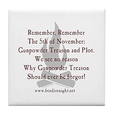 """Remember Remember"" Coaster - New Design!"