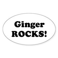 Ginger Rocks! Oval Decal