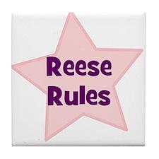 Reese Rules Tile Coaster