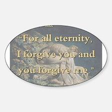 For All Eternity - W Blake Sticker (Oval)