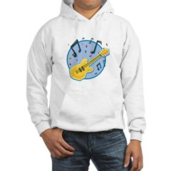 Guitar and Music Notes Design Hoodie