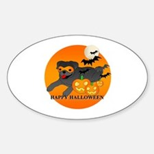 Black Pug Sticker (Oval)