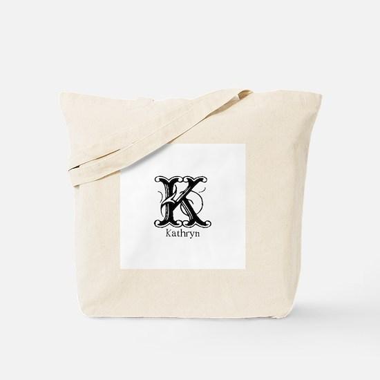 Kathryn: Fancy Monogram Tote Bag