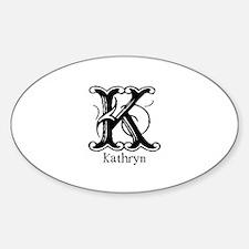 Kathryn: Fancy Monogram Oval Decal