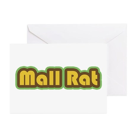Mall Rat (Brown) Greeting Cards (Pk of 10)