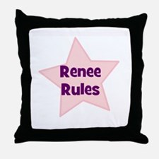 Renee Rules Throw Pillow