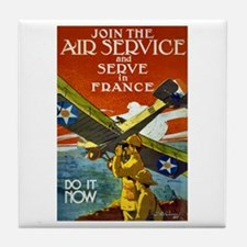 Air Service WWI Poster Tile Coaster
