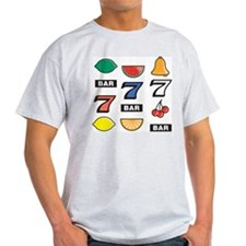 Slot Machine Ash Grey T-Shirt