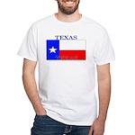 Texas Texan State Flag White T-Shirt