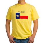 Texas Texan State Flag Yellow T-Shirt