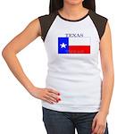 Texas Texan State Flag Women's Cap Sleeve T-Shirt