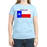 Texas Texan State Flag Women's Pink T-Shirt