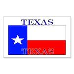 Texas Texan State Flag Rectangle Sticker