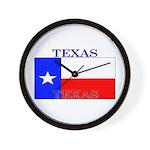 Texas Texan State Flag Wall Clock