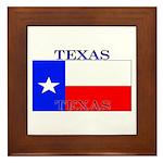 Texas Texan State Flag Framed Tile