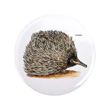 """Echidna Spiny Animal 3.5"""" Button"""