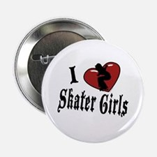 I Heart Skater Girls Button
