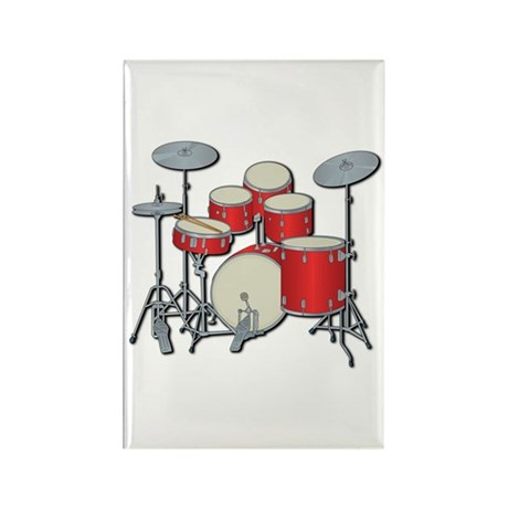 Drum Set Rectangle Magnet