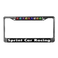 Sprintcar Racing Winged License Plate Frame