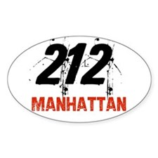 212 Oval Decal