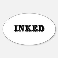 Inked Oval Decal