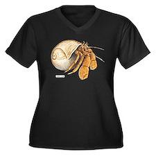 Hermit Crab Women's Plus Size V-Neck Dark T-Shirt