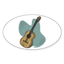 Acoustic Guitar Design Oval Decal