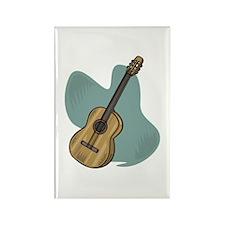 Acoustic Guitar Design Rectangle Magnet
