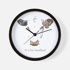 Unique Peace love cow Wall Clock