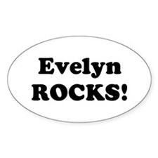 Evelyn Rocks! Oval Decal