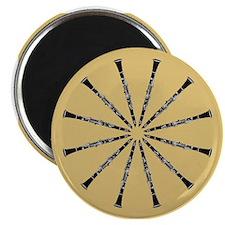 Clarinet Mandala Magnet