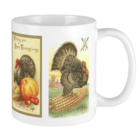 Vintage Thanksgiving Turkeys Mug