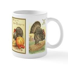 Vintage Thanksgiving Turkeys Small Mug