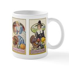 Vintage Thanksgiving Pilgrims Coffee Mug