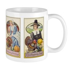 Vintage Thanksgiving Pilgrims Mug