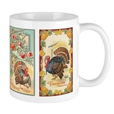 Vintage Thanksgiving Turkeys 2 Small Mug