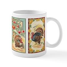 Vintage Thanksgiving Turkeys 2 Small Mug