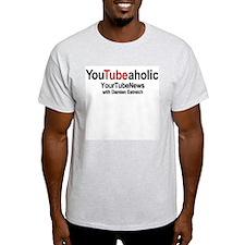 YT News w/ Damien Ash Grey T-Shirt
