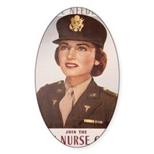 Vintage army nurse corps poster WWI Decal