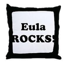 Eula Rocks! Throw Pillow
