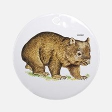 Wombat Animal Ornament (Round)