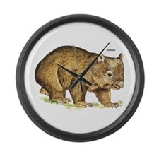 Wombat Animal Large Wall Clock